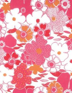 Jules & Coco Quilt Fabric- Large Pink Floral