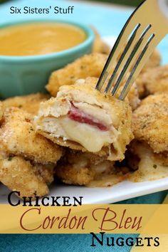 Chicken Cordon Blue Nuggets Recipe ~ delicious bite of heavenly goodness!.