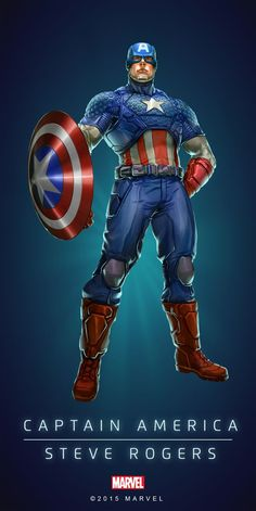 #Captain America #Fan #Art. (CAPTAIN AMERICA - STEVE ROGERS IN: MARVEL'S PUZZLE QUEST!) BY: AMADEUS CHO! (THE * 5 * STÅR * ÅWARD * OF: * AW YEAH, IT'S MAJOR ÅWESOMENESS!!!™)[THANK U 4 PINNING!!!<·><]<©>ÅÅÅ+(OB4E)(IT'S THE MOST ADDICTING GAME ON THE PLANET, YOU HAVE BEEN WARNED!!!) - Visit to grab an amazing super hero shirt now on sale!
