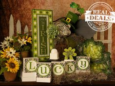 St. Patrick's Day decor at Real Deals on Home Decor