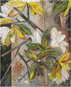 Natalia Goncharova, Still Life with Magnolias on ArtStack #natalia-goncharova-natal-ia-sierghieievna-goncharova #art