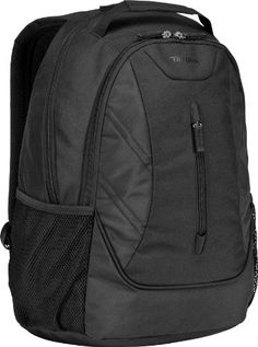 Targus Ascend Backpack for Laptops up to 16-Inch TSB710US(Black) Fits laptops up to 16-inch. Zippered stash pocket on front panel. Padded laptop compartment for extra protection. Soft-touch handle. Workstation for storing pens, pencils and small accessories. Ergonomic, padded shoulder straps. Jersey mesh water bottle holders.  #Targus #PersonalComputer