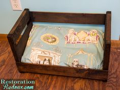 Wine-Crate-Dog-Bed Makeover