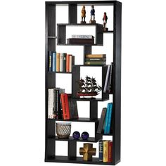 Enitial Lab Elston 11-Compartment Modern Bookcase/Display Stand - Black