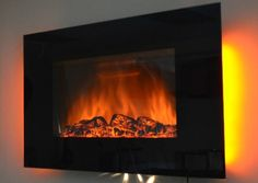 """Brand new 36"""" Wall Mounted Stainless Panel Electric Fireplace Heater 1500W, 5200BTUs 510DL"""