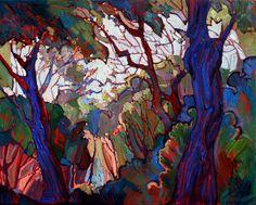 California Oaks Contemporary Impressionism Landscape Original Oil Painting