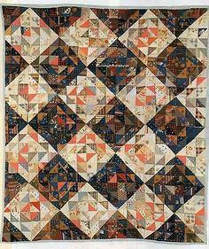 Split Nine Patch Quilt Pattern Pieced MK