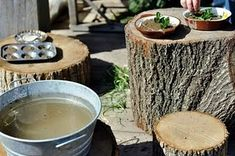Mud Kitchen.  Must get tub for water :)  Here I come, antique stores!