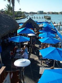 Snook Inn - Marco Island Florida.   Order the Steak Lobster and Salad Bar :)  If you sit outside you can watch the Snook jumping out of the water.