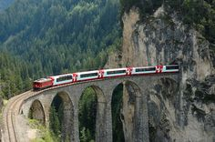The Bernina Express is perhaps the most scenic rail trip! Truly it is a must see experience when you travel to Switzerland.