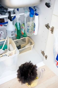 How to Organize Under the Kitchen Sink - Clean and Scentsible