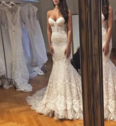 Wonderful Perfect Wedding Dress For The Bride Ideas. Ineffable Perfect Wedding Dress For The Bride Ideas. Dream Wedding Dresses, Bridal Dresses, Wedding Gowns, Bridesmaid Dresses, Lace Wedding, Wedding Bride, Wedding Summer, Backless Wedding, Mermaid Sweetheart
