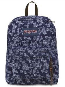 JanSport High Stakes Floral Denim Canvas Backpack on JanSport.com