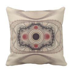 Beige Abstract Fractal Art Throw Pillow - vintage gifts retro ideas cyo