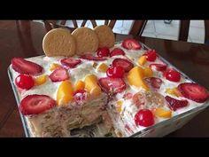 Postre de galletas marias con #frutas delicioso y fácil de preparar - YouTube