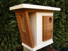 Bird House Kits Make Great Bird Houses Birdhouse Pole, Birdhouse Craft, Birdhouse Designs, Birdhouse Ideas, Bird House Plans, Bird House Kits, Decorative Bird Houses, Bird Houses Diy, Bird House Feeder