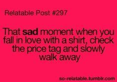 Truly a sad affair, especially with handbags and shoes.