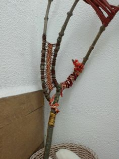 Plant Hanger, Sticks, Whimsical, Colorful, Furniture, Home Decor, Decoration Home, Room Decor, Home Furnishings