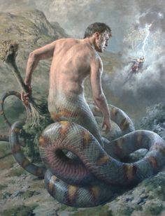 Paul Reid Revives Greek Mythology in Paintings | Hi-Fructose Magazine Greek Mythology Art, Greek Paintings, Greek Gods, Art Oil, Canvas Paper, Oil On Canvas, Minoan, Male Figure, Ancient Greek