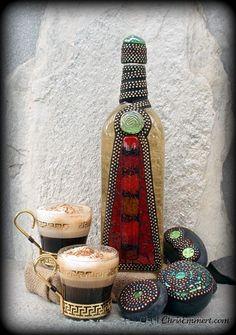 """""""Almendrado Cappuccino"""" Mosaic Bottle"""