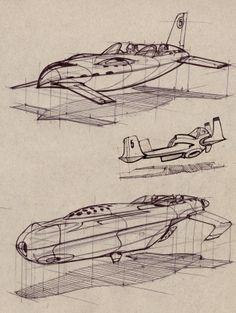 Hovership drawings.