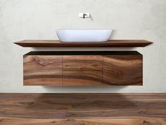 Suspended walnut bathroom cabinet CP Lab Design Collection by CP Parquet