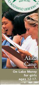 Aloha Camp for Girls- #SummerCamp in #FairleeVT
