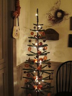 decorated feather tree