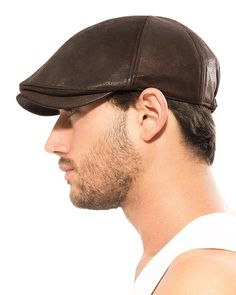 f7e017765ad Flat Cap Vintage Cabbie Hat Gatsby Ivy Cap Irish Hunting Newsboy Stretch -  Dark Brown - C3119BSJSX9