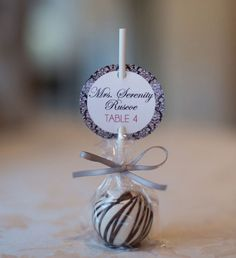 Escort Card and favor in one.