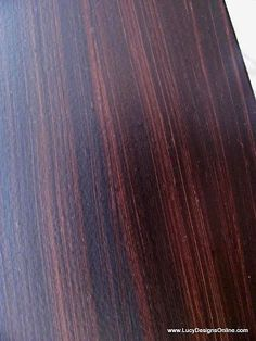 """from...Lucy Designs: Gel Stain over White Furniture...how to make painted furniture look like """"wood"""""""