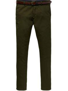 Scotch /& Soda Mott-Classic Garment-dyed Twill Chino Pantalones para Hombre