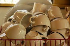 sturdy white cups