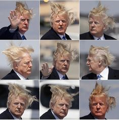 """andy lassner on Twitter: """"Donald Trump is the first President in history who requires full face make-up and hair spinning every morning."""""""