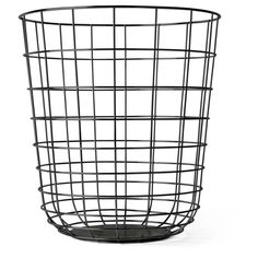Dot & Bo Live Wire Bin (966.700 IDR) ❤ liked on Polyvore featuring home, home decor, small item storage, wire bins, wire basket, wire home decor and colored baskets