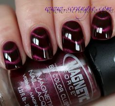 Ooh, want these. Color Club Magnetic Force magnetic nail polish