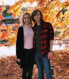 Chandler Riggs and Brianna Maphis