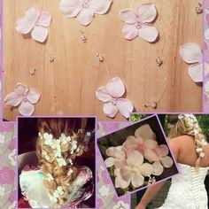 Peluca de guirnalda flor de delicada flor rosa luz cabello vid /flower corona pelo largo vid del pelo/flor larga vid de pelo