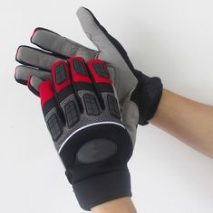 Impact resistant work gloves anti-rattle ride comfortable wear-resistant spring and autumn anti vibration safety glove