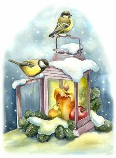 Shine Pictures – Victorian The Cut – Victorian Scrap – Tube Victorienne – Glansbill … - Winter Art Christmas Bird, Christmas Scenes, Christmas Clipart, Christmas Animals, Christmas Printables, Winter Christmas, Winter Snow, Illustration Noel, Christmas Illustration