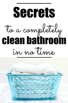 professionals guide to a clean bathroom!