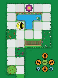Not as fun as a real Beebot, but much cheaper! Bee Activities, Gross Motor Activities, Apple Classroom, Classroom Wall Decor, Fun Worksheets For Kids, Computational Thinking, Coding For Kids, Computer, Bee Bee