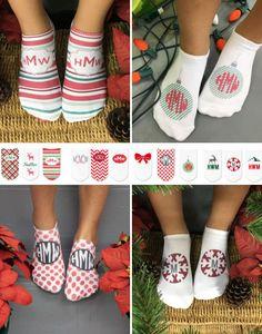 ★ super sweet NEW CHRISTMAS SOCKS spotlight! ★ It's too hard to choose from the newest holly jolly monogrammed Christmas socks from Sweet Elite Sponsor sockprints! I need them all!! https://www.etsy.com/shop/sockprintsonetsy