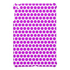 Modern Bright Purple Neon Polka Dots Pattern Cover For The iPad Mini