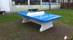 Pingpongtafel Afgerond Blauw bij SBSO De Zeeparel in Middelkerke