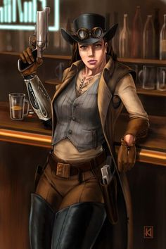 Space Cowgirl by sugarsart on DeviantArt Female Character Design, Character Concept, Character Art, Character Ideas, Fantasy Characters, Female Characters, Space Cowboy, Arte Assassins Creed, Westerns