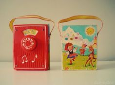 Fisher Price play radio. Had one just like this...