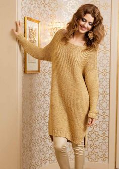 Tunika  SK 08/2014.  Looks like simple knitting