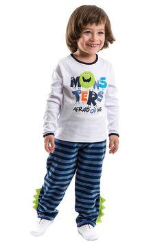 Pijamama Boys' Cute Monsters Pyjama Set in White - Beyond the Rack 27$