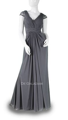 Ook leuk!: Grijze galajurk met mouwtjes 3714 Dresses, Fashion, Vestidos, Moda, Fasion, Dress, Gowns, Trendy Fashion, Clothes